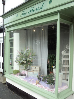 the florist shop window